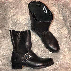 Frye Veronica short Black Moto Boots